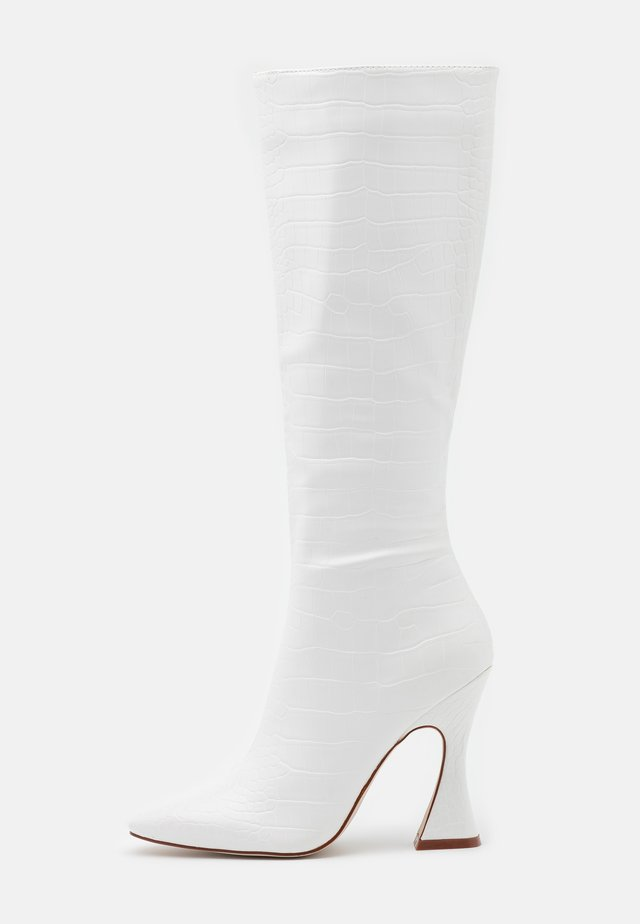 ANGELIQUE - Kozačky na vysokém podpatku - white
