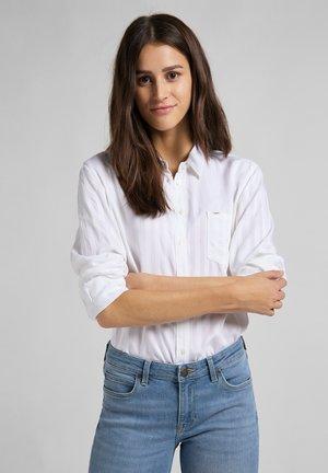 ONE POCKET - Button-down blouse - white