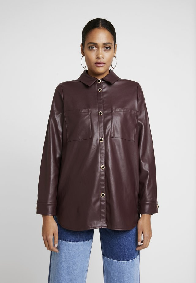 Button-down blouse - red dark
