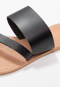 Topshop Wide Fit - WIDE FIT HOPE  - T-bar sandals - black - 2