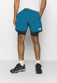 The North Face - ACTIVE TRAIL DUAL SHORT - Pantalón corto de deporte - mallard blue/black - 0