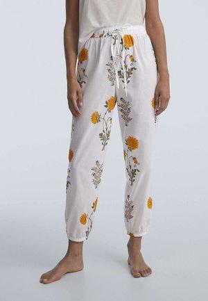 INDIAN CUFFED - Pyjama bottoms - white