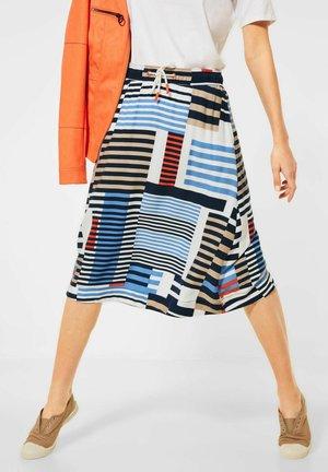 MIT GRAFISCHEM PRINT - A-line skirt - blau