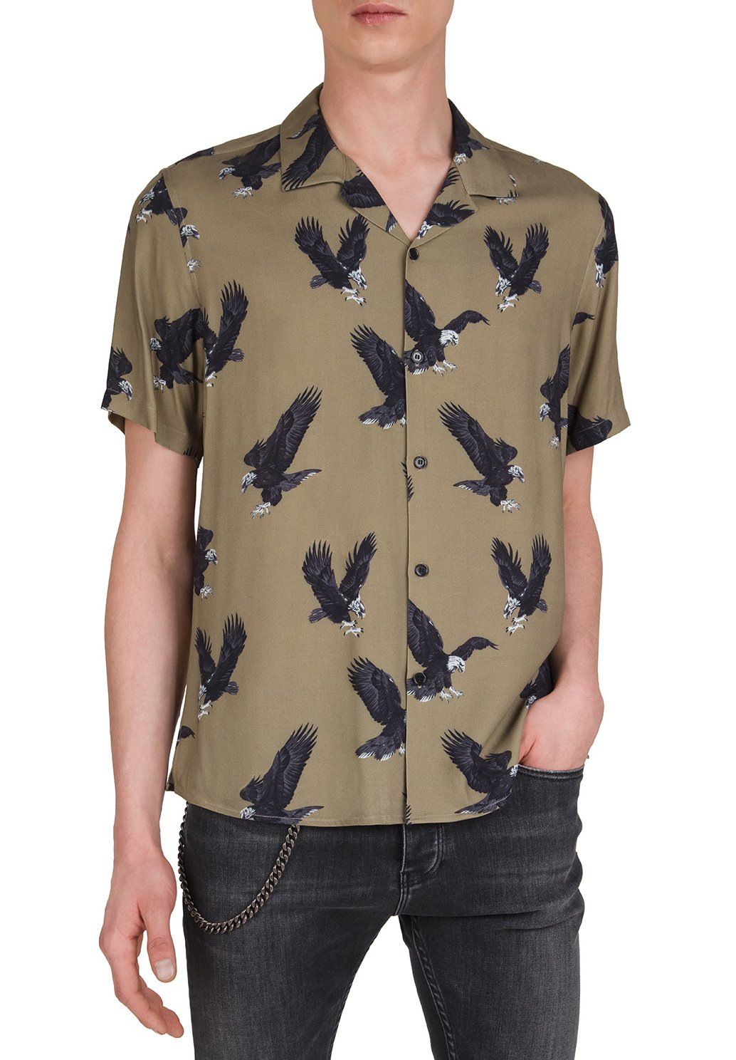 The Kooples WITH EAGLE MOTIF - Chemise - green