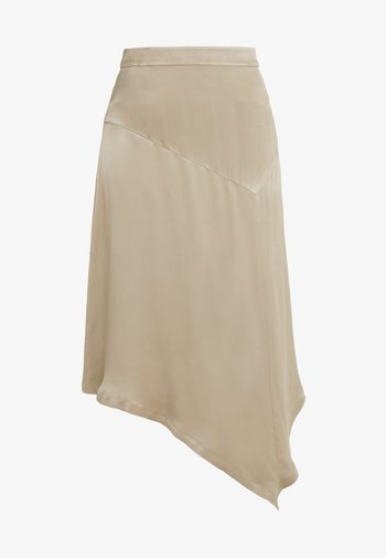 LIZZY PLISSÉ - A-line skirt - covert green
