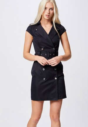 BELTED - Shift dress - dark blue