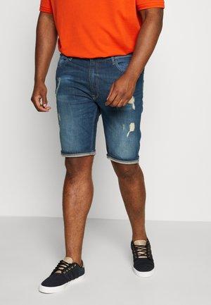 BIG CAST - Denim shorts - blue