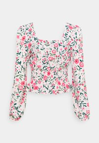 Missguided Tall - GATHERED WAIST PUFF BLOUSE - Blouse - multi-coloured - 1