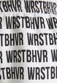 WRSTBHVR - PANTS HARVEST  - Pantalones deportivos - black/white - 2