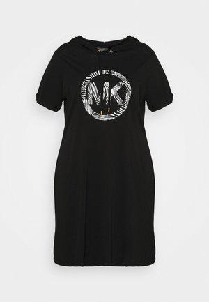 CIRCLE TUNIC HOODIE DRESS - Kjole - black