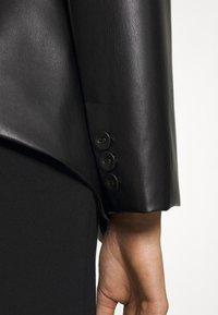 Patrizia Pepe - JACKETS - Faux leather jacket - nero - 4