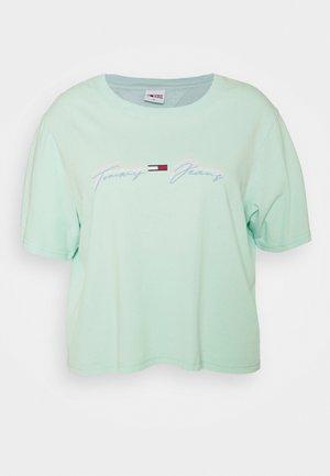 LINEAR LOGO TEE - Print T-shirt - aqua coast