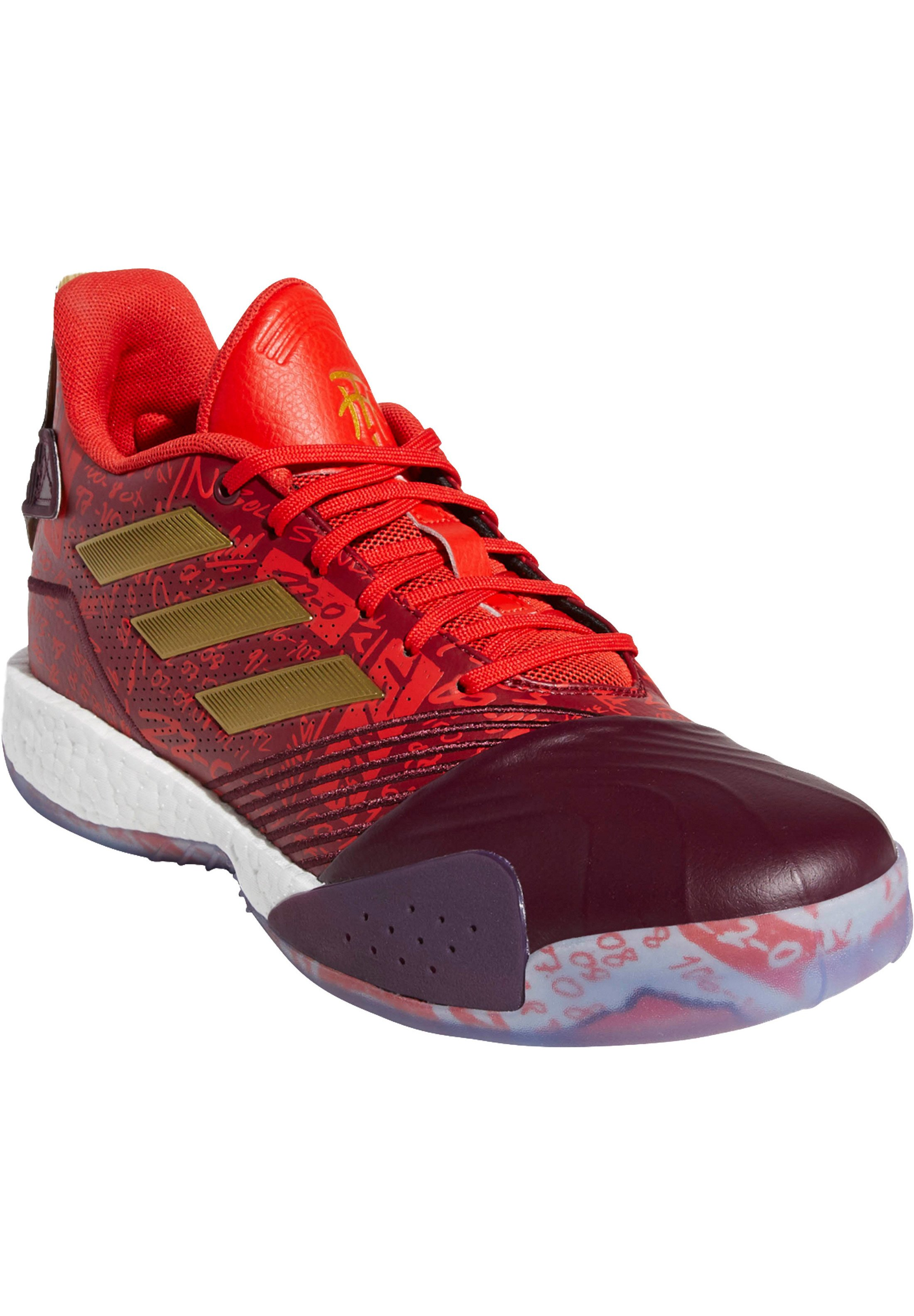 adidas Performance T-MAC MILLENNIUM  - Basketballschuh - collegiate burgundy / footwear white / maroon/bordeaux - Herrenschuhe JBes1