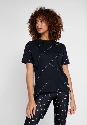 LOGO PRINT LIVE - Print T-shirt - black/white