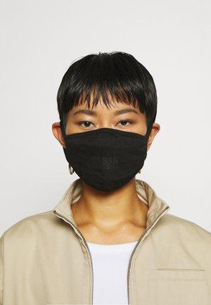 LOGO PRINT FACE MASK UNISEX 2 PACK - Community mask - black
