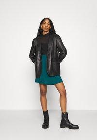 Even&Odd - A-line skirt - teal - 1