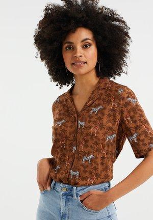 MET DESSIN - Button-down blouse - brown