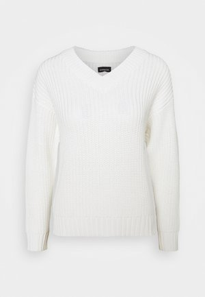 V-NECK OVERSIZED - Jumper - offwhite