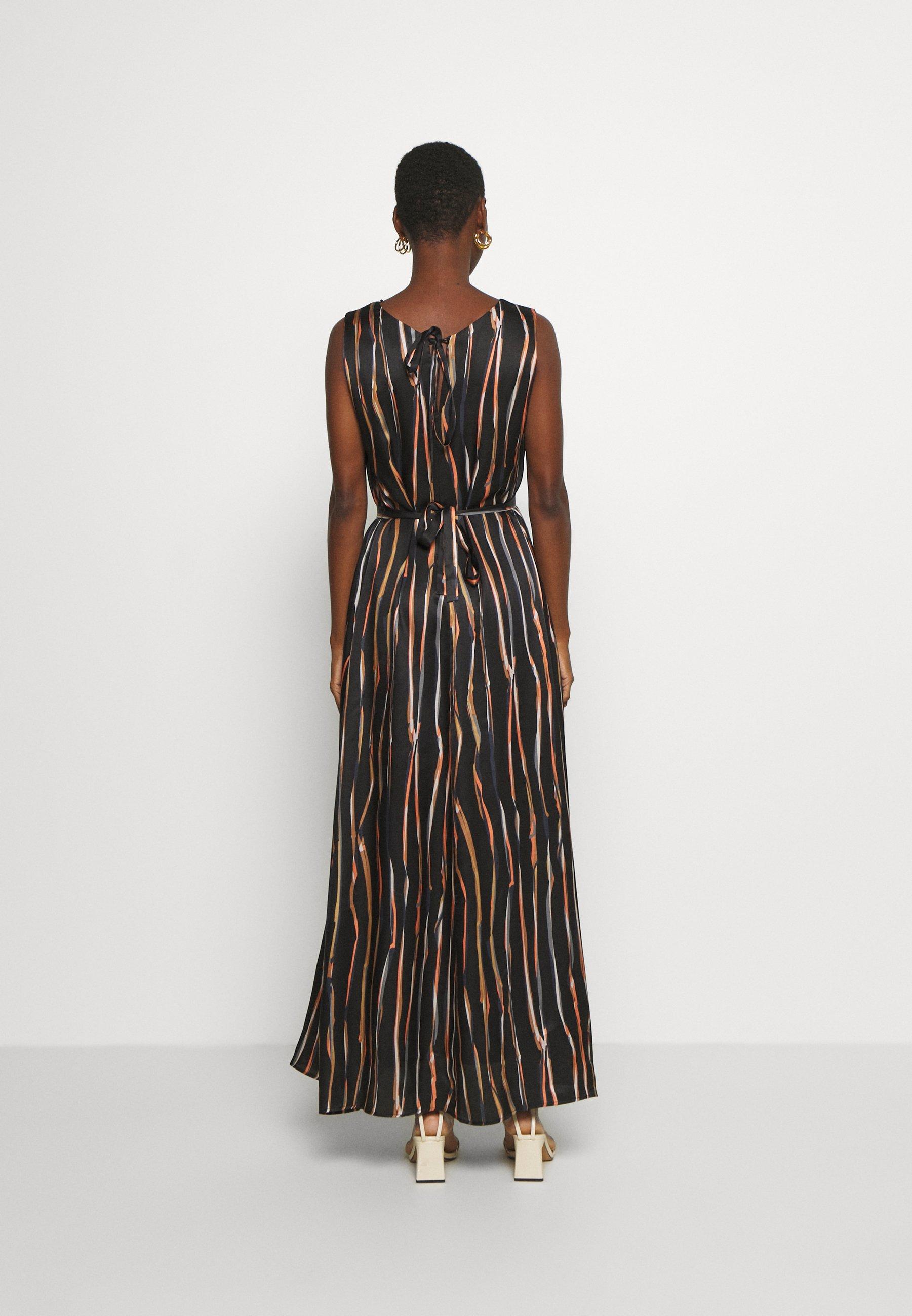 Safe Payment Women's Clothing Marc O'Polo PURE DRESS SLEEVELESS BELT Maxi dress multi/black l6SkYTS1F