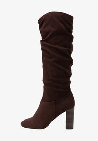 Dorothy Perkins - KISS PULL ON BOOT - High heeled boots - chocolate - 1
