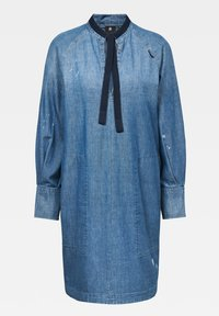 G-Star - V-NECK TUNIC DRESS - Denim dress - faded aegean blue - 5