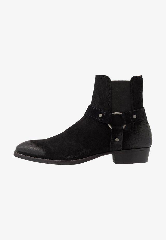 BIABEACK WESTERN - Kovbojské/motorkářské boty - black