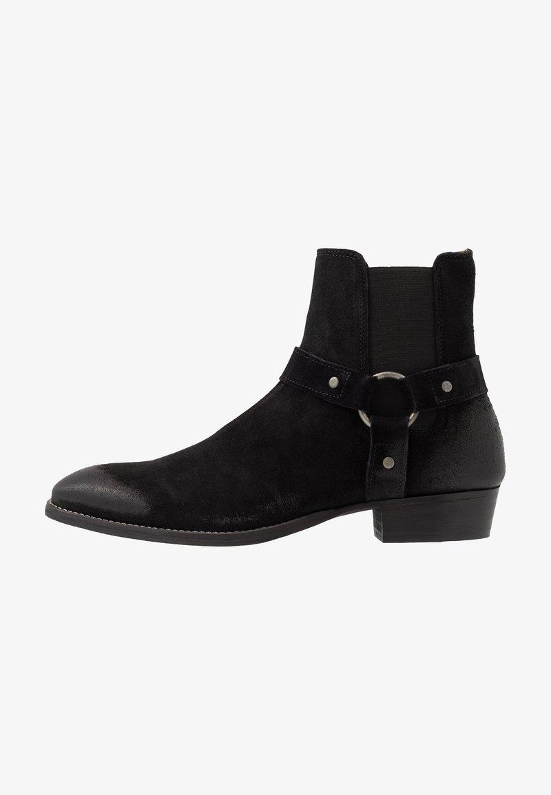 Bianco - BIABEACK WESTERN - Cowboy/biker ankle boot - black