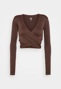 BDG Urban Outfitters - SEAMLESS BALET WRAP - Topper langermet - choc - 0
