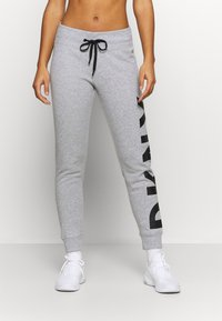 DKNY - EXPLODED LOGO CUFFED - Tracksuit bottoms - pearl grey heather - 0