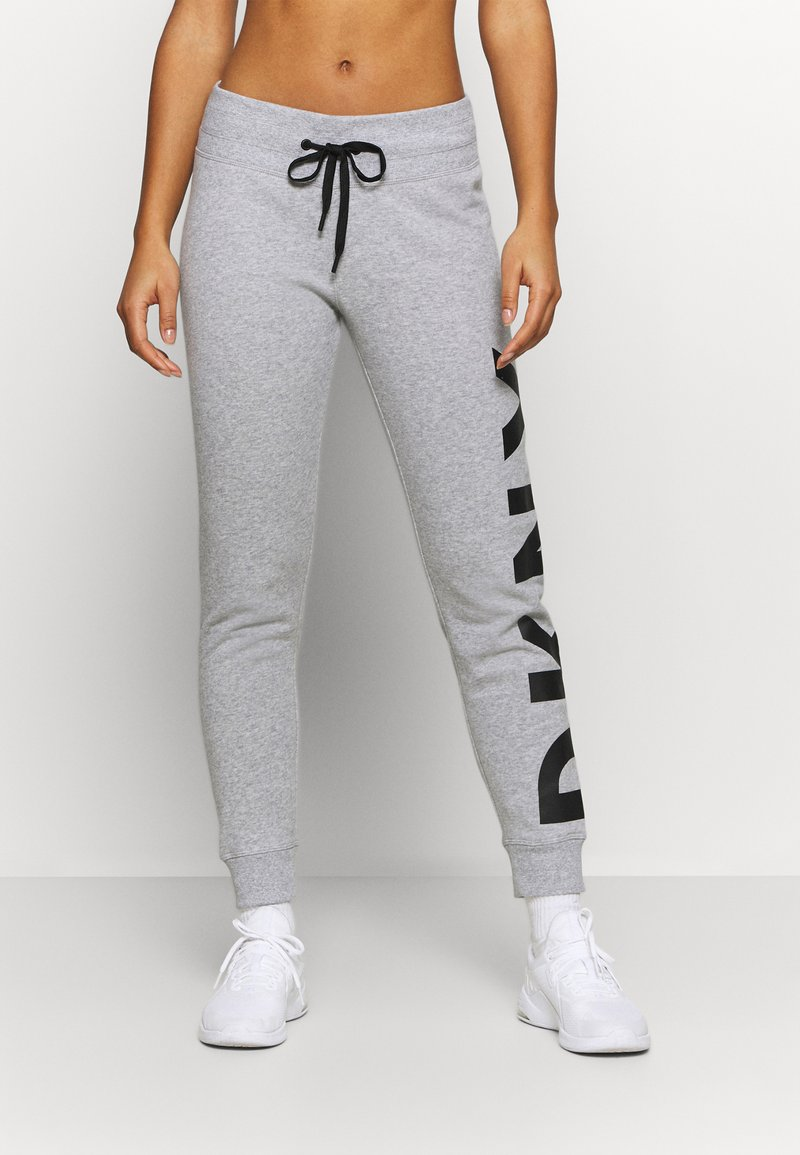 DKNY - EXPLODED LOGO CUFFED - Tracksuit bottoms - pearl grey heather