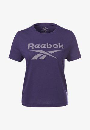 WORKOUT READY SUPREMIUM BIG LOGO T-SHIRT - T-shirt con stampa - purple
