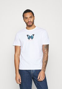 YOURTURN - UNISEX BUTTERFLY TEE - T-shirt med print - white - 0