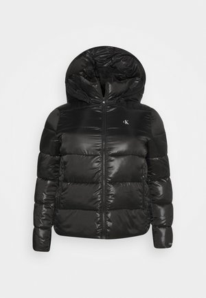 SHINY SHORT PUFFER - Vinterjakke - black