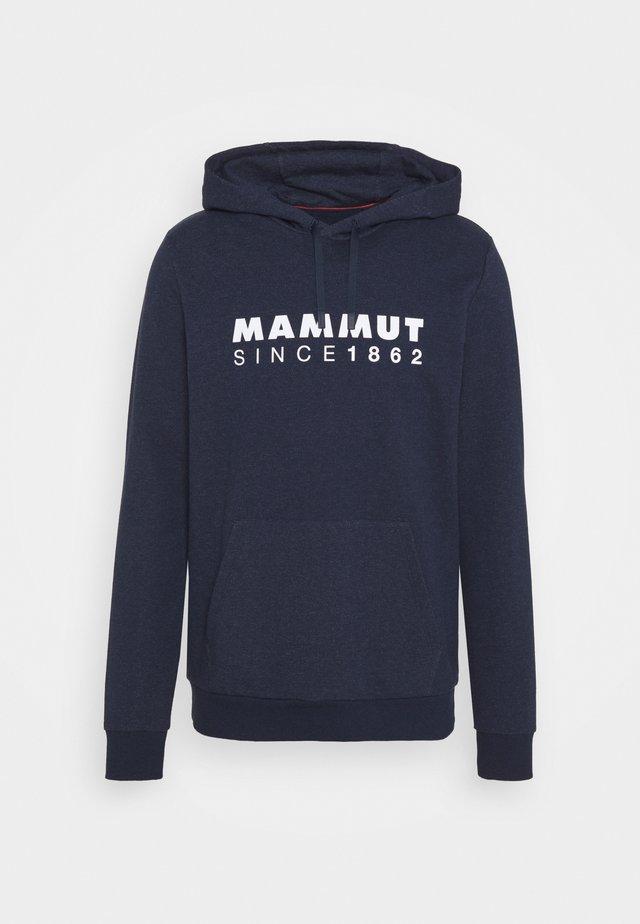 MAMMUT LOGO HOODY MEN - Huppari - marine melange