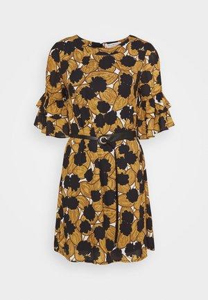 LADIES DRESS PREMIUM - Day dress - pompons saffron yellow