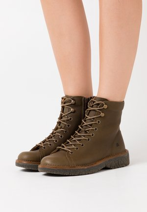 VOLCANO - Lace-up ankle boots - olive