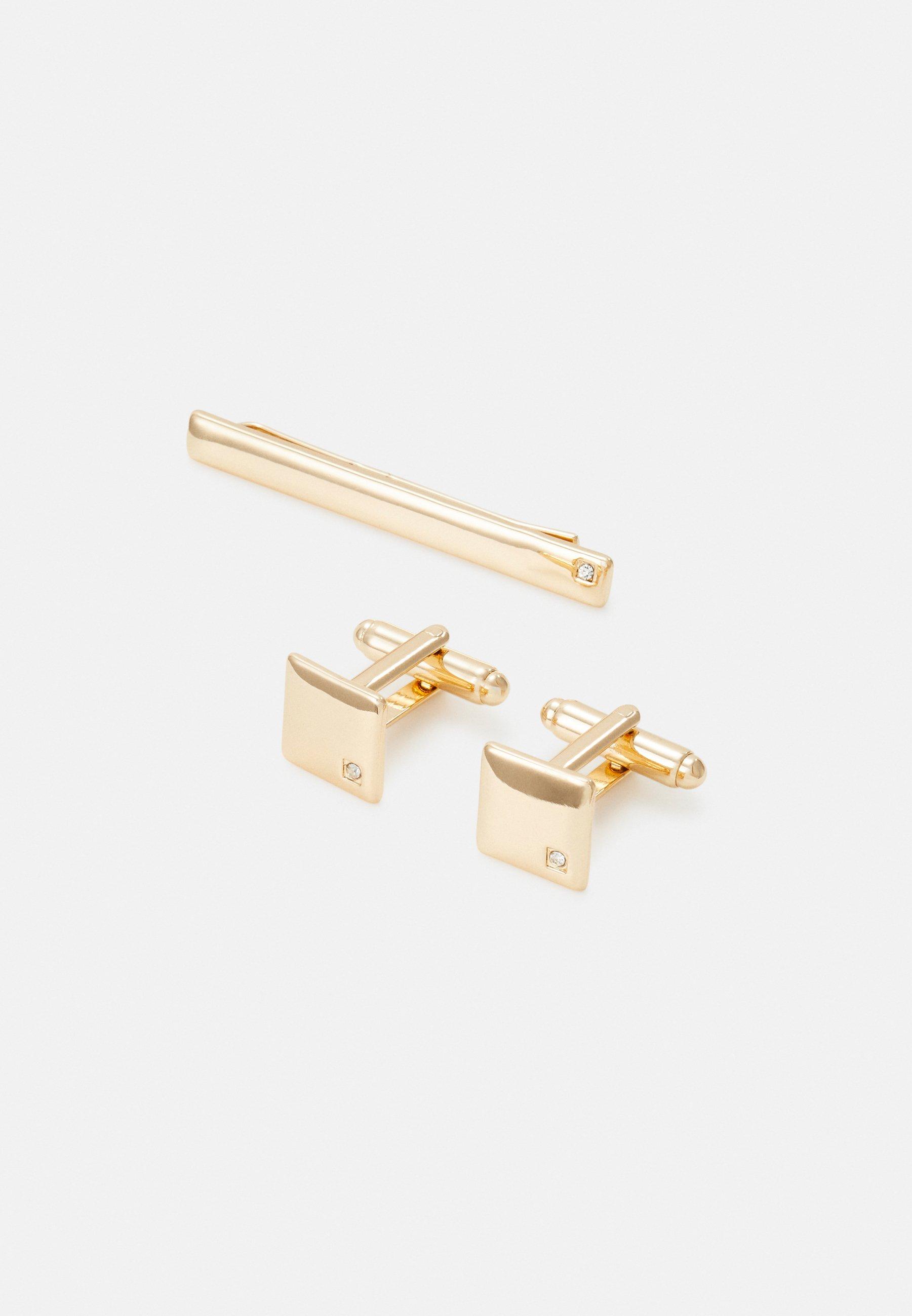 Burton Menswear London Square Set - Manschettenknopf Gold-coloured