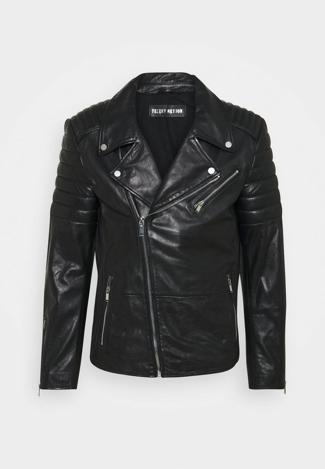 CHARLY ACTION - Leather jacket - black