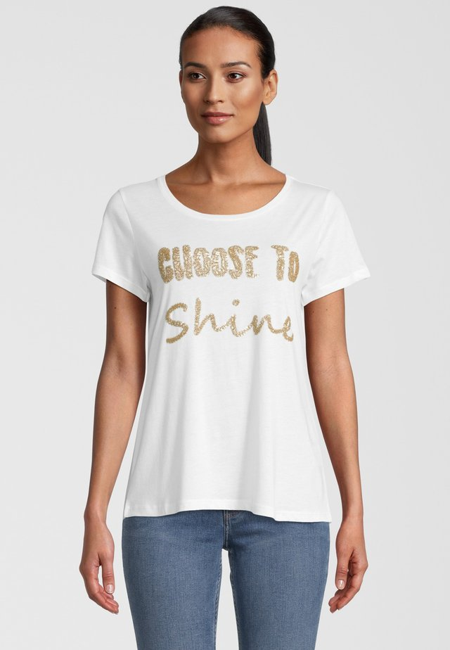 T-shirt con stampa - offwhite