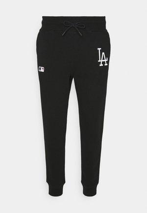 MLB LOS ANGELES DODGERS EMBROIDERY BURNSIDE PANTS - Trainingsbroek - jet black