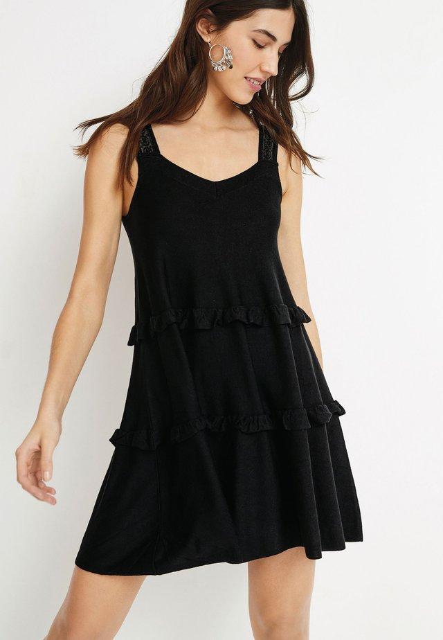 TIER - Korte jurk - black