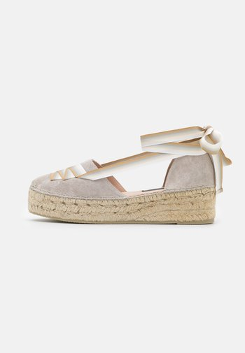 EVA - Lace-up heels - stone