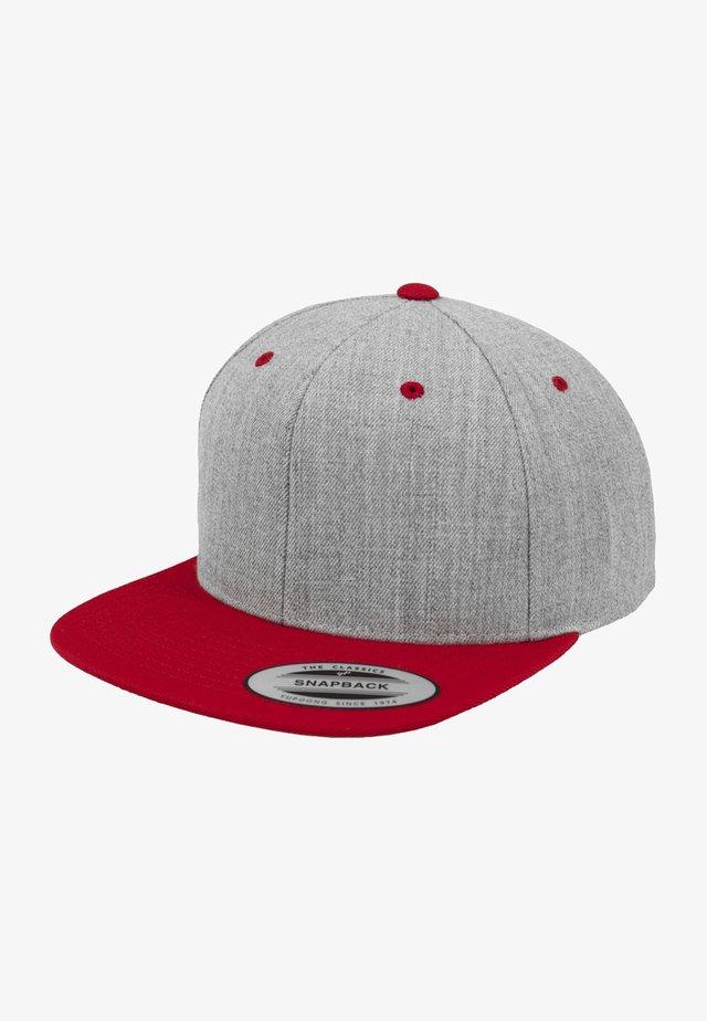CLASSIC SNAPBACK 2-TONE - Lippalakki - light grey/red