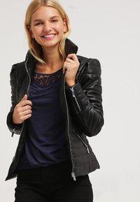 Morgan - CRAIE - Faux leather jacket - noir - 3