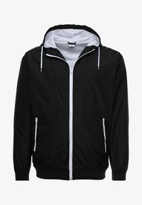 Urban Classics - CONTRAST WINDRUNNER - Summer jacket - black/white - 4