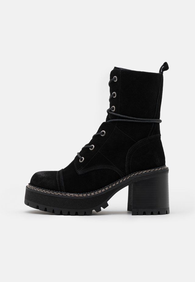 JORDAN - Bottines à plateau - black