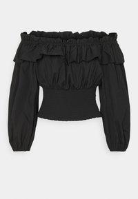 Gina Tricot - EXCLUSIVE BELLE OFFSHOULDER - Blouse - black - 0