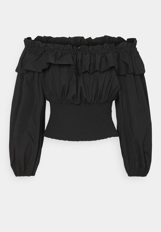 EXCLUSIVE BELLE OFFSHOULDER - Blouse - black