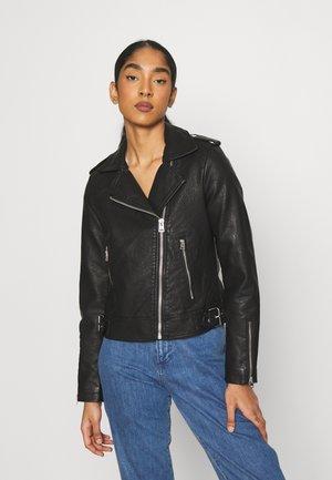 BRANDY - Faux leather jacket - black