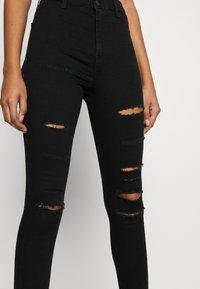 Topshop - SUPER JONI - Jeans Skinny Fit - black - 4